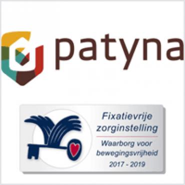Waarborgzegel Fixatievrije Zorg voor 5 locaties van Patyna in Friesland