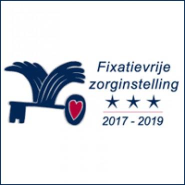 Waarborgzegel Fixatievrije Zorginstelling 2017-2019 met een jaar verlengd