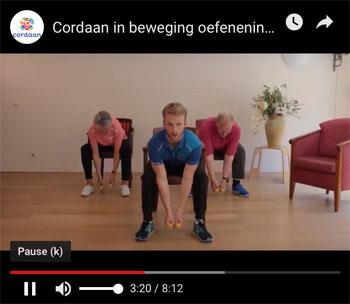Cordaan video bewegingsoefeningen ouderen