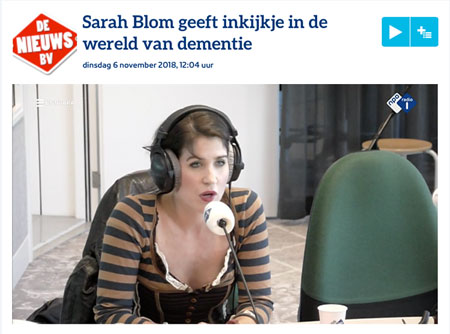 Sarah Blom radio-interview over dementie NPO1