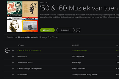 Afspeellijst bij Spotify