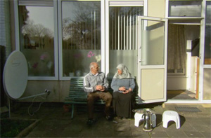 Ouder Marokkaans echtpaar thuis
