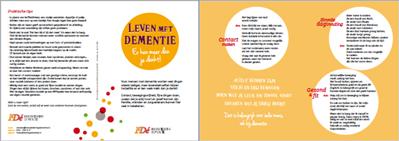 Folder 'Leven met dementie - er kan meer dan je denkt'