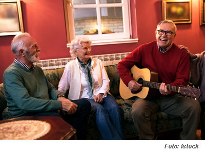 Gitaar groep zingen