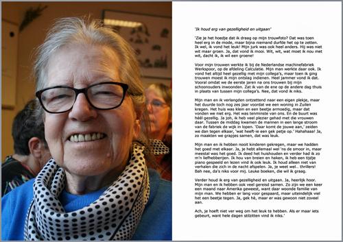 Levensportret Mevrouw Schenk