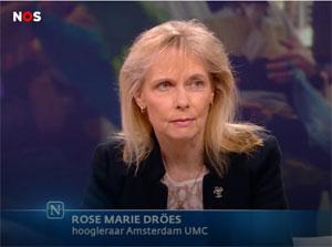 Rose Marie Dröes bij de NOS