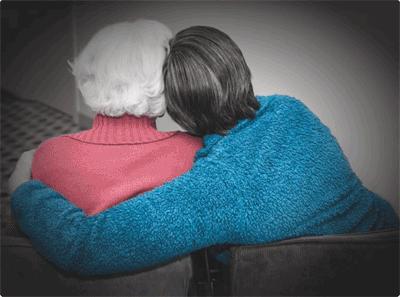 Vriendengesprek bij dementie
