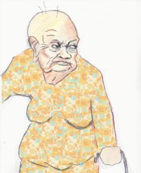Oudere vrouw - tekening